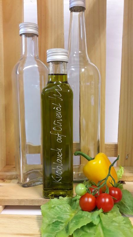 Orangen auf Olivenöl
