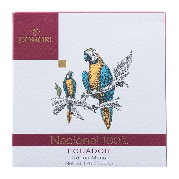 Domori Cacao Nacional Ecuador Arriba 100% Zartbitterschokolade 50g Vegan