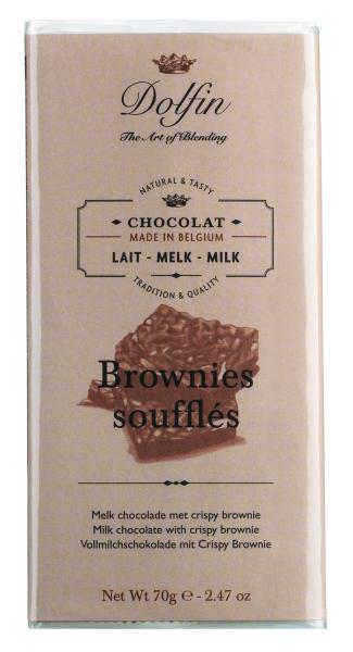 Dolfin Vollmilchschokolade mit Crispy Brownie 70g