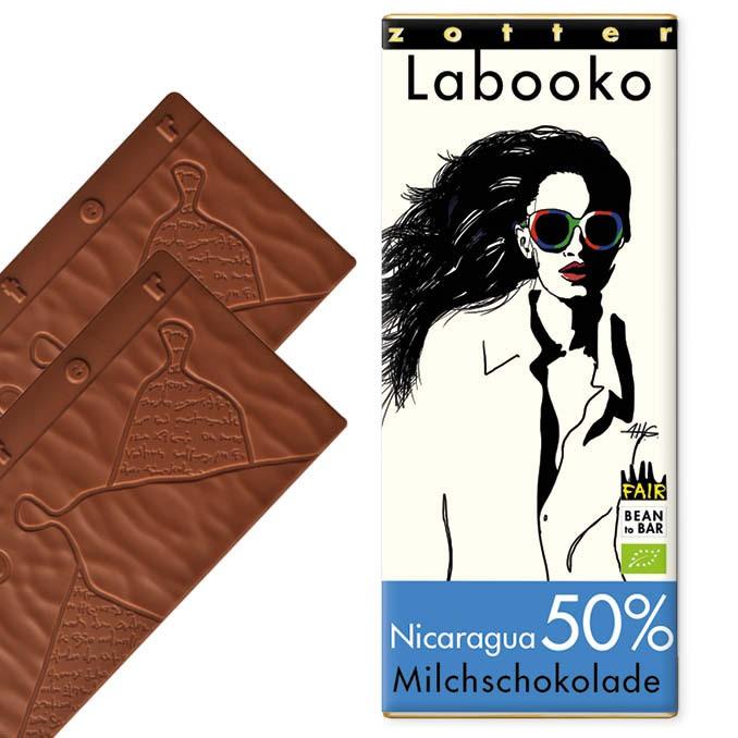 Zotter Labooko Milchschokolade Nicaragua 50% 70g