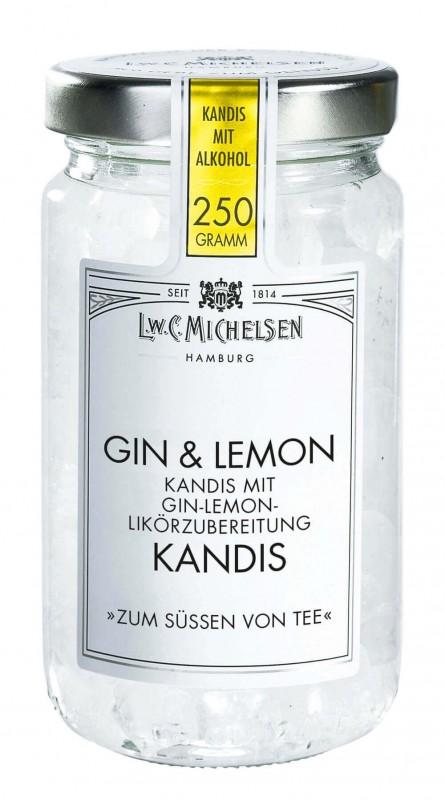 Gin & Lemon Kandis mit Alkohol 250g