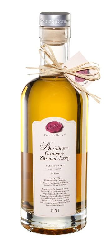 Berner`s Basilikum-Orangen-Zitronen-Essig