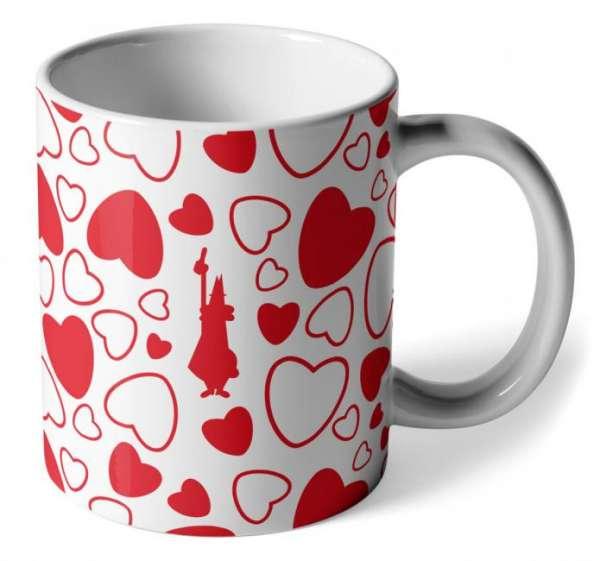 Bialetti Kaffeebecher Cuore Herzen Weiß
