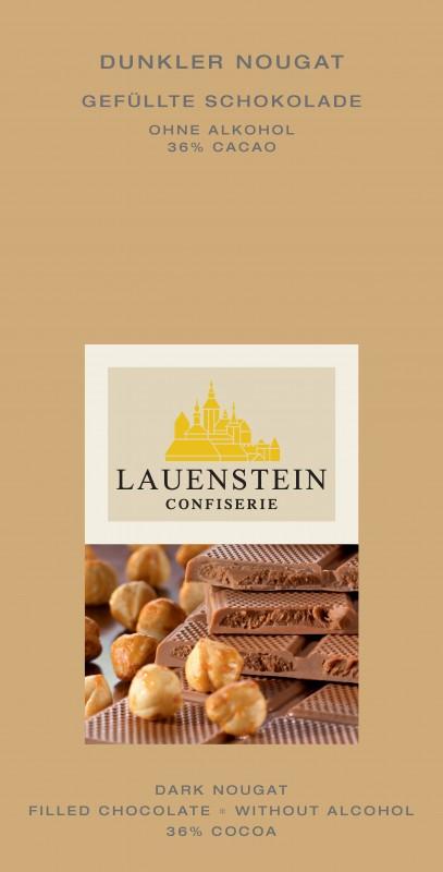 Lauenstein 38% Kakao Dunkler Nougat 80g