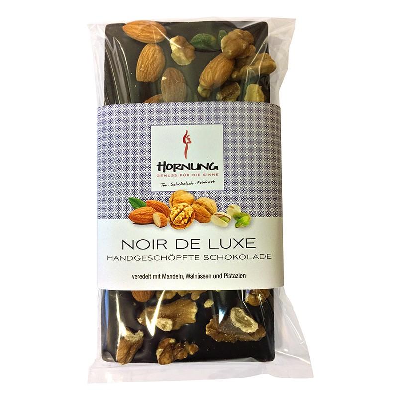 Hornung Schokolade Noir de Luxe (Mandeln, Walnüsse und Pistazien) Vegan 130g