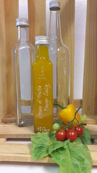 Mango Crema Essig mit Fruchtmus - vegan