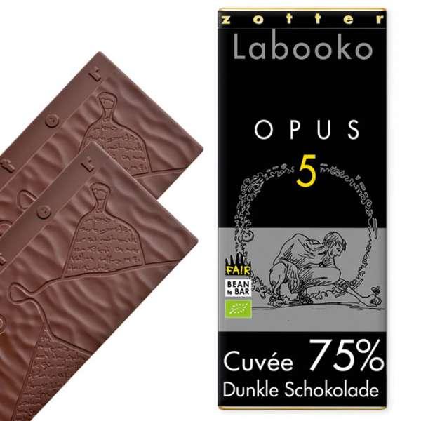 Zotter Labooko 75% Opus 5 70g Vegan und Laktosefrei