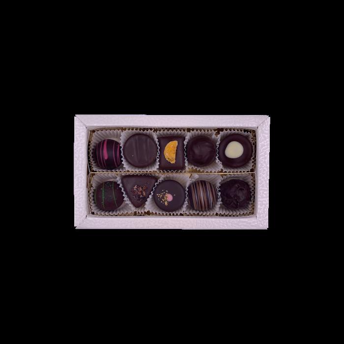 Pralinenbox dunkle Mischung 10er 125g
