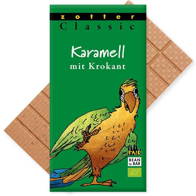 Zotter Classic Karamell mit Krokant 70g