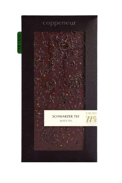 Coppeneur Schwarzer Tee 85g Tafel Vegan