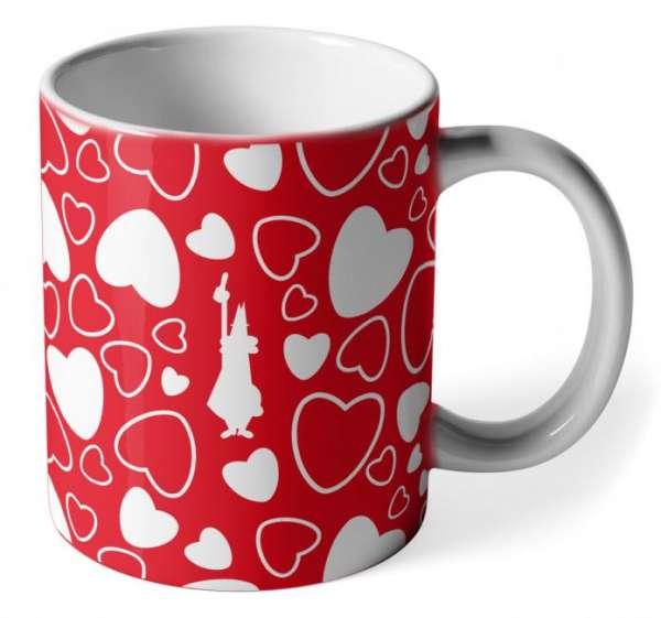 Bialetti Kaffeebecher Cuore Herzen Rot
