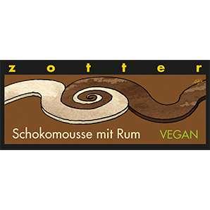 Zotter Schokomousse mit Rum Vegan und Laktosefrei 70g