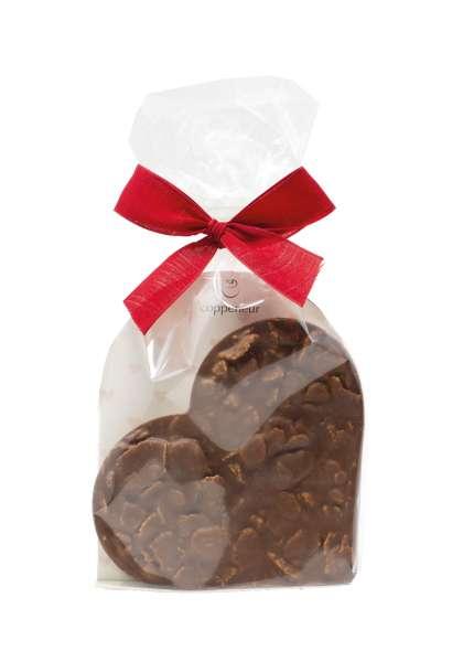 Coppeneur Knusperflakes Schokoladenherz Vollmilch 100g