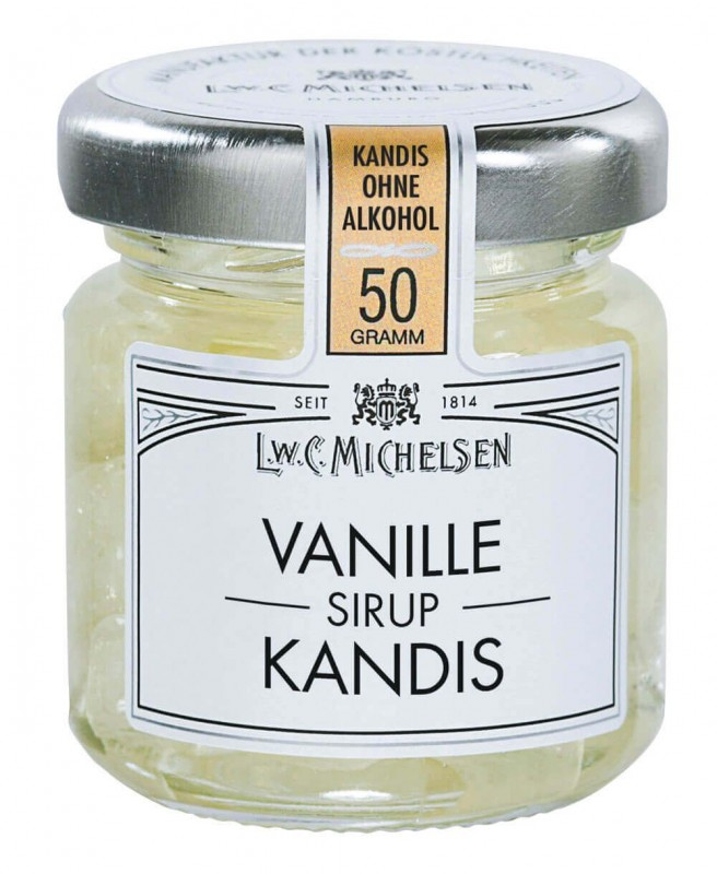 Vanille Kandis ohne Alkohol 50g