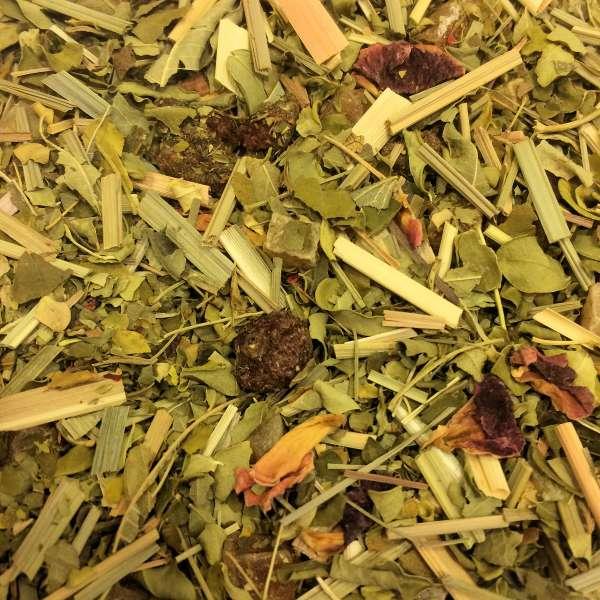 Granatapfel Johannisbeere mit Moringa Kräutermischung