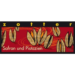 Zotter Schokolade Safran und Pistazien mit Alkohol 70g