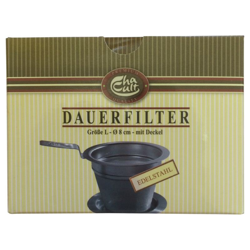 Teedauerfilter mit Edelstahlgewebe L von Cha Cult