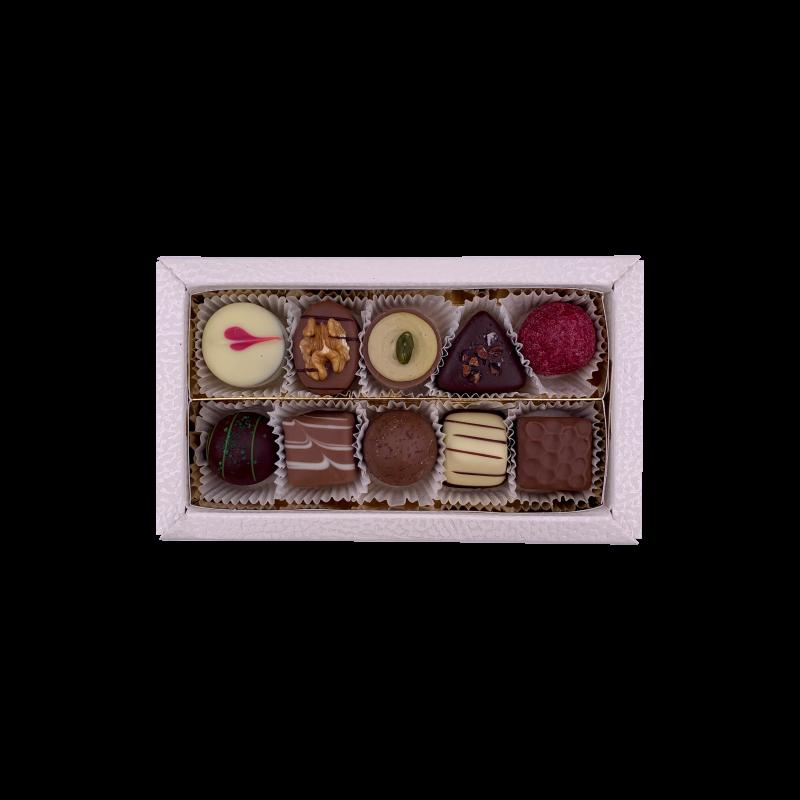 Pralinenbox gemischt ohne Alkohol 10er 125g