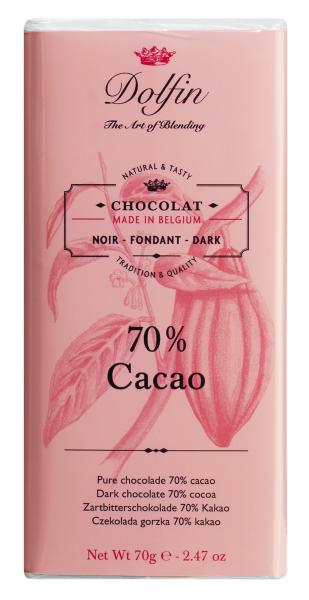 Dolfin Edelbitterschokolade mit 70% Kakao 70g