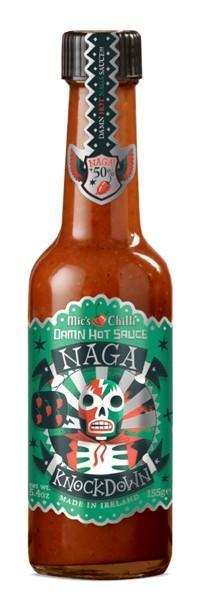 Mic's Chilli Damn Hot Sauce Naga Knockdown 155g
