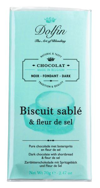 Dolfin Zartbitterschokolade mit Fleur de Sel 70g