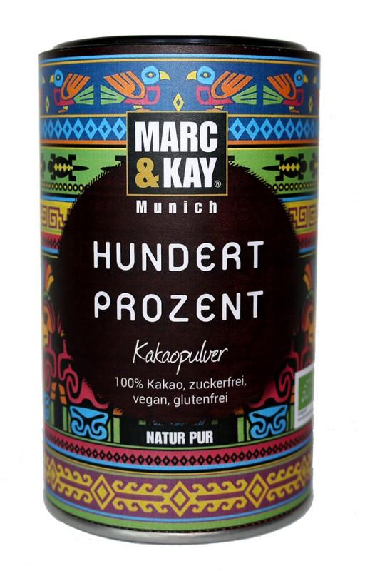 BIO Trinkschokolade Marc & Kay Hundert Prozent Vegan