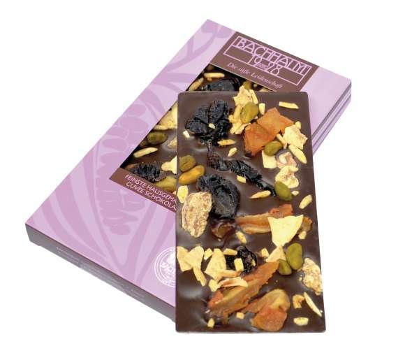 Bachhalm Apfel Nuss Birne Zartbitterschokolade 80g