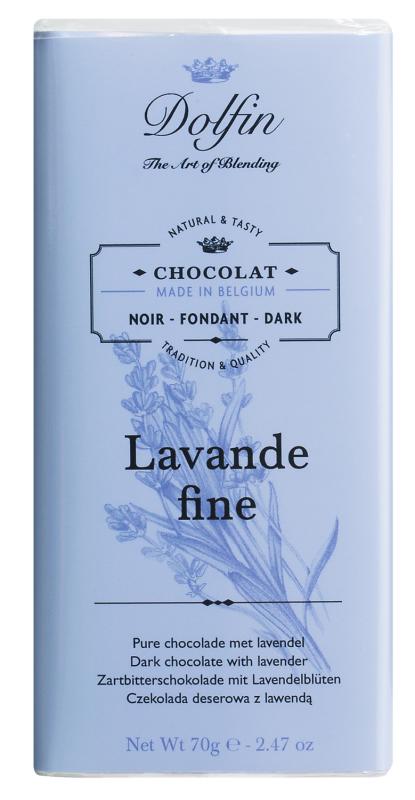Dolfin Zartbitterschokolade mit Lavendel & Vanille 70g