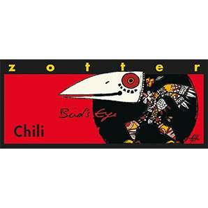 Zotter Chili Bird's Eye 70g alkoholhaltig