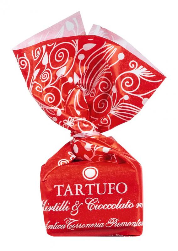 Tartufo dolci Mirtilli & Cioccolato rosa - Weiße Schokolade 14g