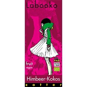 Zotter Labooko Himbeer-Kokos Vegan und Laktosefrei 70g