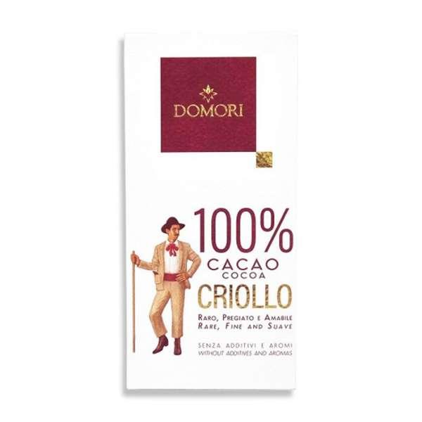 Domori Criollo 100% Zartbitterschokolade 50g Vegan