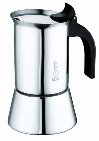 Bialetti Venus 2 Tassen Italienischer Kaffeekocher - Edelstahl