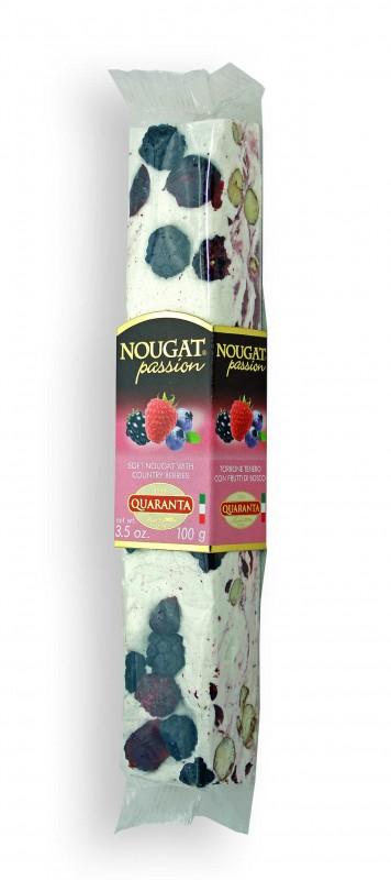Quaranta Soft-Nougat mit Waldbeeren und Crème 100g