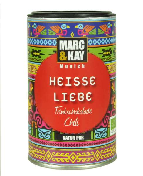 BIO Trinkschokolade Marc & Kay Heisse Liebe Vegan