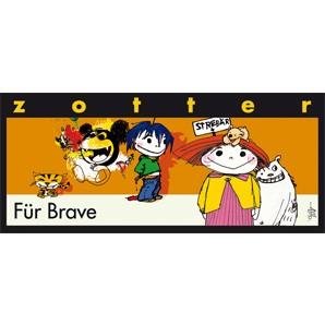 """Zotter """"Für Brave"""" SchokoBiene mit Honigblättchen 70g"""