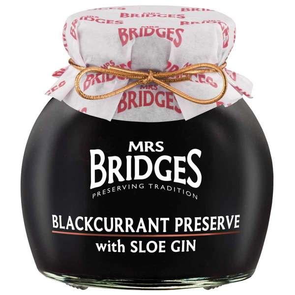 Mrs. Bridges Blackcurrant Preserve with Sloe Gin 340g