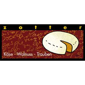 Zotter Käse Walnuss Trauben 70g