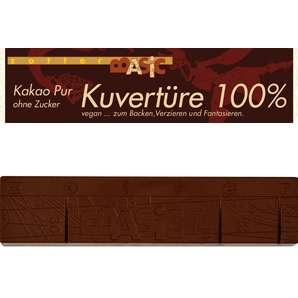 Zotter Kuvertüre Kakao Pur 100% Vegan und Laktosefrei 120g