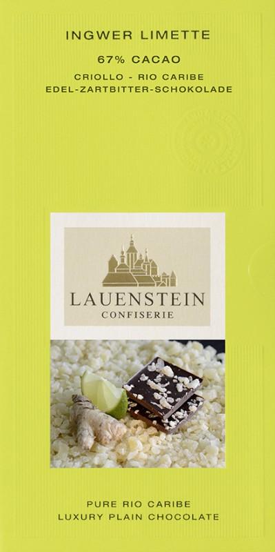 Lauenstein 67% Kakao Limette Ingwer 80g