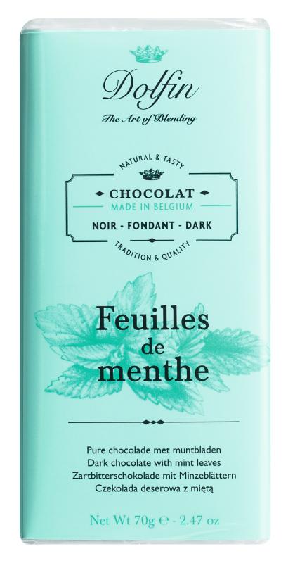 Dolfin Zartbitterschokolade mit Minze 70g