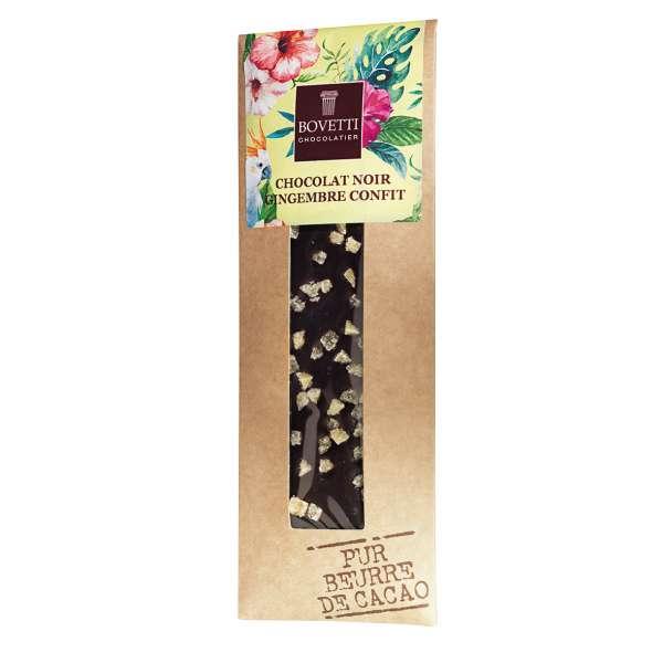 Bovetti Dark Chocolate Candied Ginger Vegan 50 g