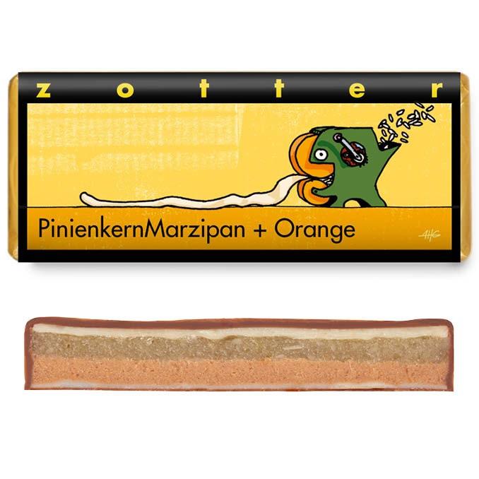 Zotter Pinienkernmarzipan & Orange 70g