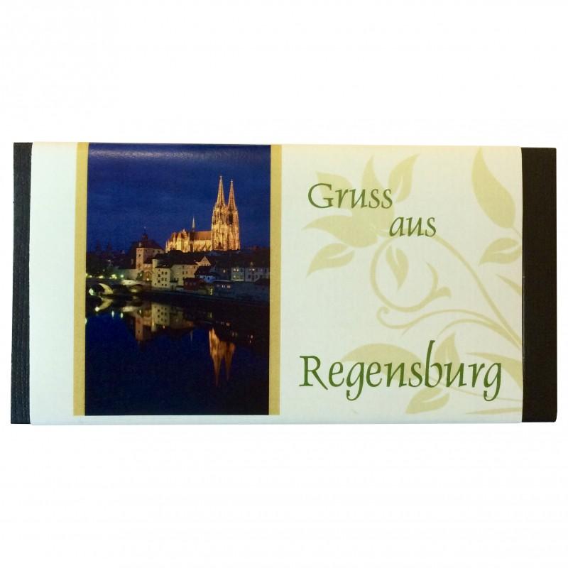 Hornung Vollmilchschokolade Gruss aus Regensburg Nachtansicht 100g