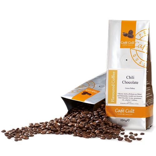 Café Cult Chili Chocolate Ganze Bohne Aromabeutel 250g