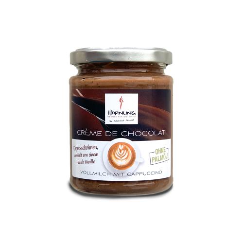 Hornung Crème de Chocolat Vollmilch mit Cappuccino (ohne Palmöl) 250g