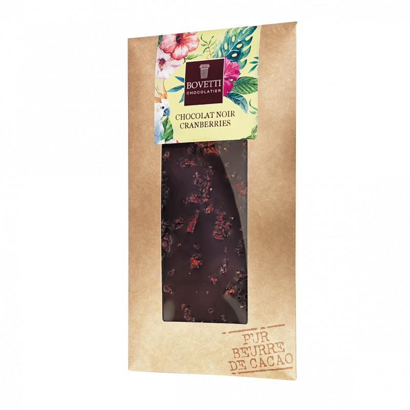 Bovetti Dark Chocolate Cranberry 100g Vegan
