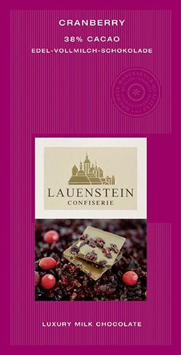 Lauenstein 38% Kakao Cranberry 80g
