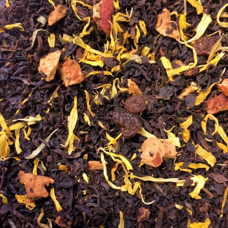 Bio Roter Weinbergpfirsich Schwarzer Tee