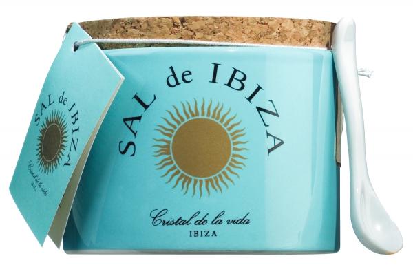 Sal de Ibiza Fleur de Sel Steintopf mit Löffelchen 150g